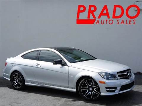 2013 Mercedes-Benz C-Class for sale at Prado Auto Sales in Miami FL