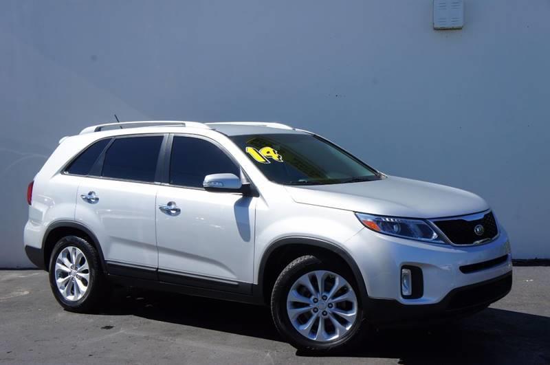 2014 KIA SORENTO EX 4DR SUV V6 bright silver carfax certifiedback up camerano accident