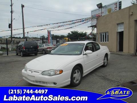 2003 Chevrolet Monte Carlo for sale in Philadelphia, PA