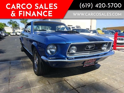 1968 Ford Mustang For Sale In Chula Vista CA
