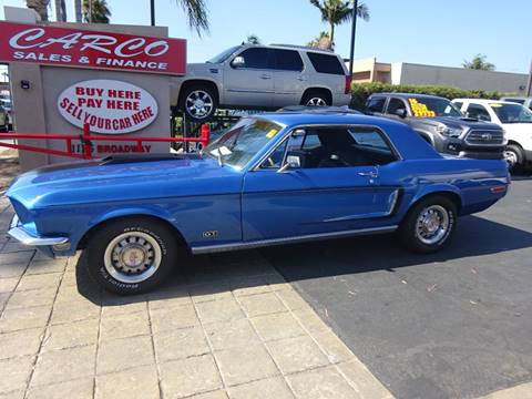 1968 Ford Mustang for sale at CARCO SALES & FINANCE #3 in Chula Vista CA