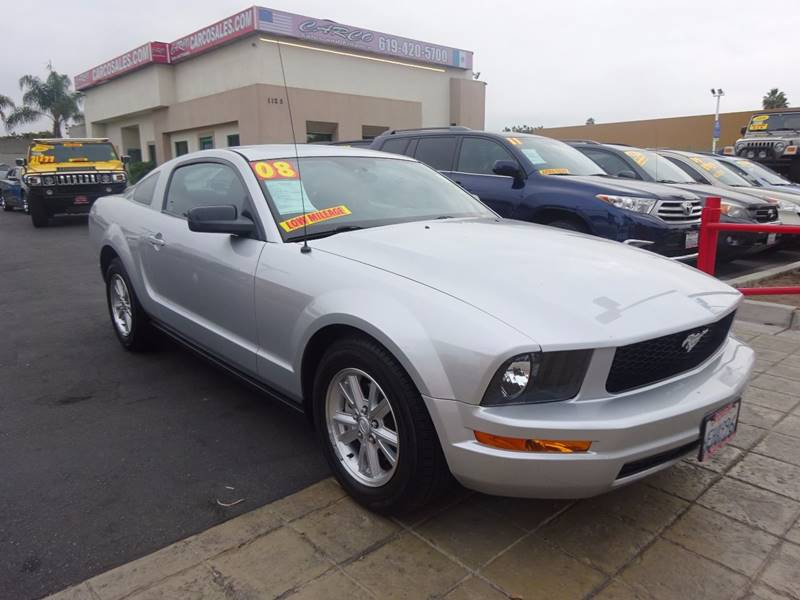 2008 ford mustang v6 deluxe 2dr fastback in chula vista ca - carco