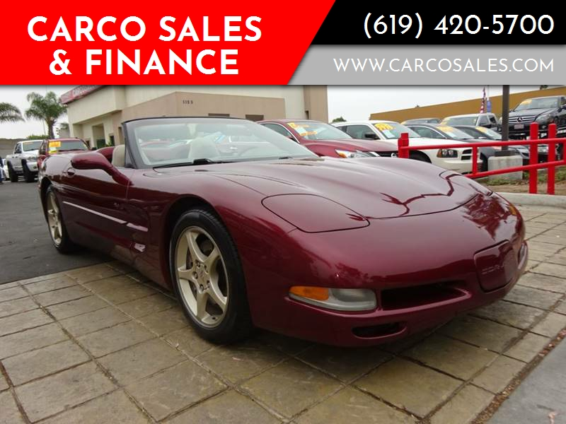 2003 Chevrolet Corvette 2dr Convertible In Chula Vista Ca Carco