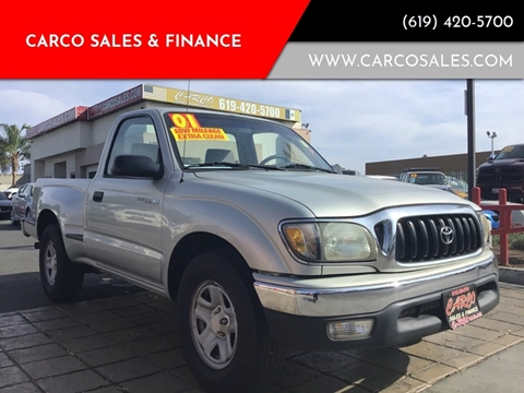 2001 Toyota Tacoma for sale at CARCO SALES & FINANCE #3 in Chula Vista CA