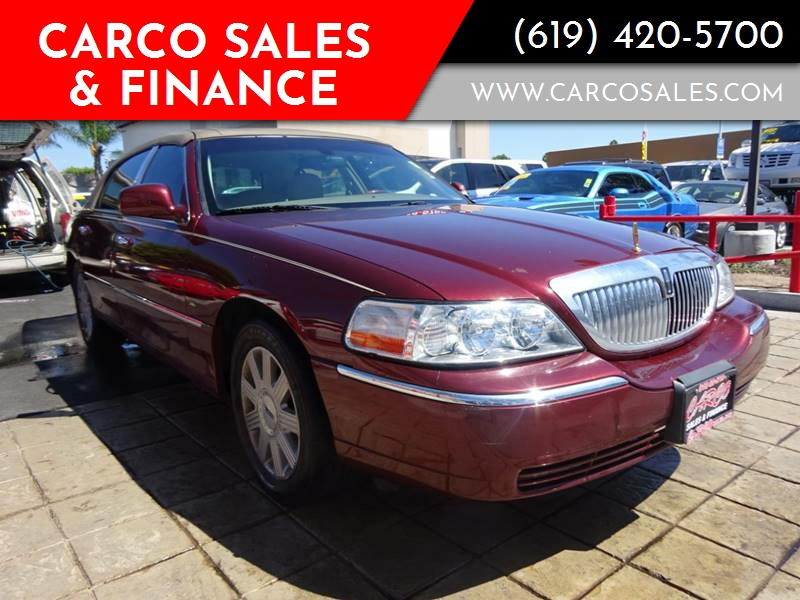 2004 Lincoln Town Car Ultimate 4dr Sedan In Chula Vista Ca Carco