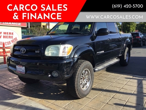 2005 Toyota Tundra Limited for sale at CARCO SALES & FINANCE #3 in Chula Vista CA