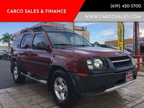 2004 Nissan Xterra XE for sale at CARCO SALES & FINANCE - Under 7000 in Chula Vista CA