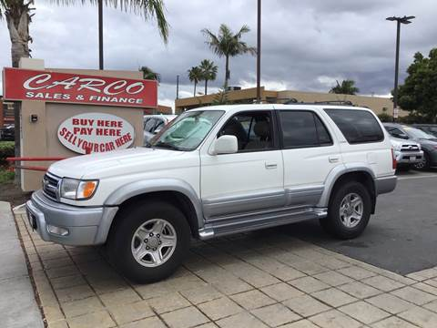 2000 Toyota 4Runner Limited for sale at CARCO SALES & FINANCE - Under 7000 in Chula Vista CA