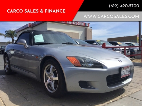 2001 Honda S2000 for sale at CARCO SALES & FINANCE #2 in Chula Vista CA