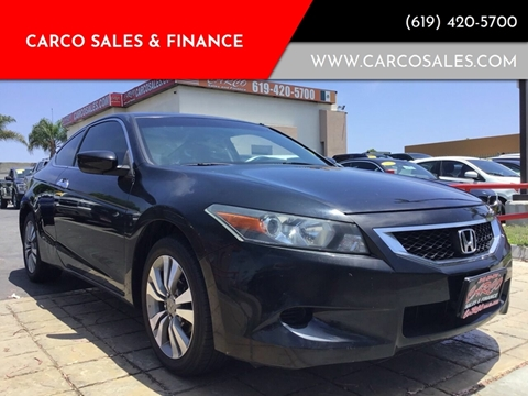 2008 Honda Accord LX-S for sale at CARCO SALES & FINANCE #3 in Chula Vista CA
