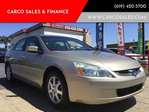 2005 Honda Accord EX V-6 w/Navi for sale at CARCO SALES & FINANCE - Under 7000 in Chula Vista CA