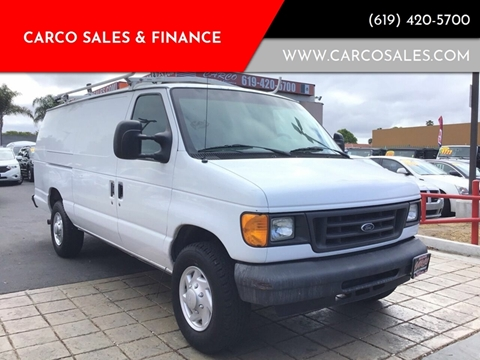 2007 Ford E-Series Cargo for sale at CARCO SALES & FINANCE #3 in Chula Vista CA