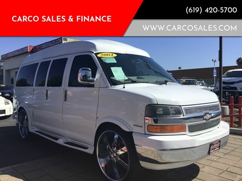 2004 Chevrolet Express Cargo for sale at CARCO SALES & FINANCE in Chula Vista CA