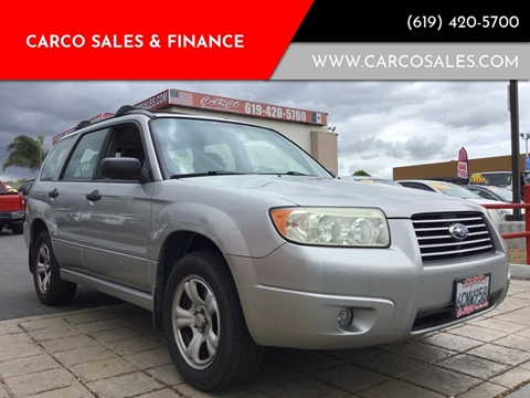 2007 Subaru Forester for sale at CARCO SALES & FINANCE #3 in Chula Vista CA