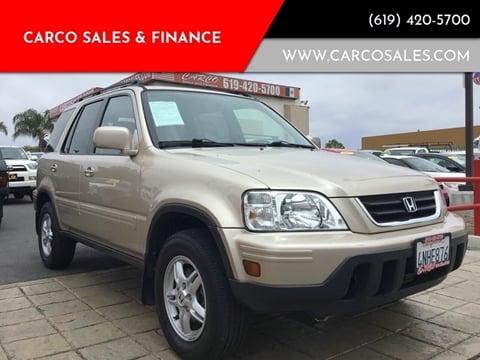 2000 Honda CR-V SE for sale at CARCO SALES & FINANCE #3 in Chula Vista CA