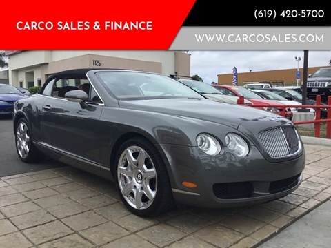 2008 Bentley Continental for sale at CARCO SALES & FINANCE in Chula Vista CA