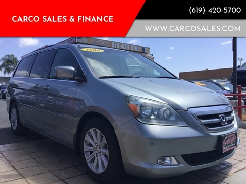 2006 Honda Odyssey Touring w/DVD w/Navi for sale at CARCO SALES & FINANCE - Under 7000 in Chula Vista CA