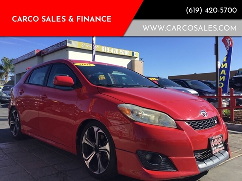 2010 Toyota Matrix for sale at CARCO SALES & FINANCE #2 in Chula Vista CA
