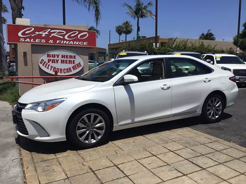 2016 Toyota Camry XLE for sale at CARCO SALES & FINANCE #3 in Chula Vista CA