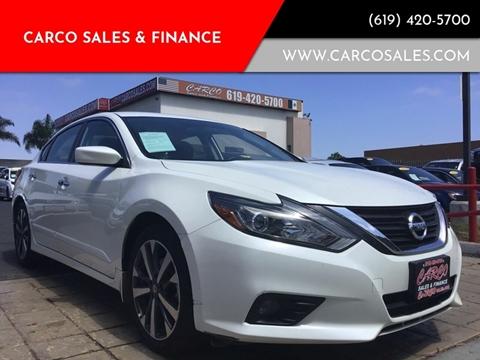 2016 Nissan Altima 2.5 SR for sale at CARCO SALES & FINANCE #3 in Chula Vista CA
