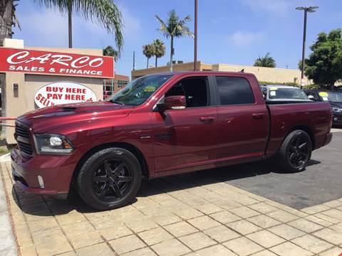 2016 RAM Ram Pickup 1500 Sport for sale at CARCO SALES & FINANCE #3 in Chula Vista CA