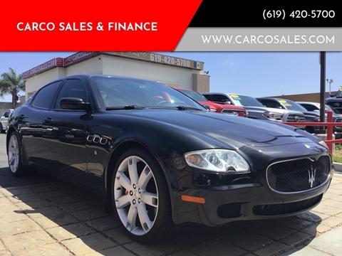 2008 Maserati Quattroporte Sport GT S Automatic for sale at CARCO SALES & FINANCE #3 in Chula Vista CA