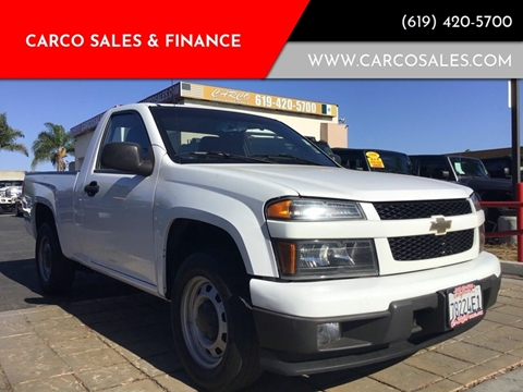 2012 Chevrolet Colorado Work Truck for sale at CARCO SALES & FINANCE #2 in Chula Vista CA