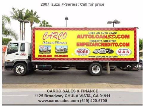 2007 Isuzu F-Series for sale at CARCO SALES & FINANCE in Chula Vista CA