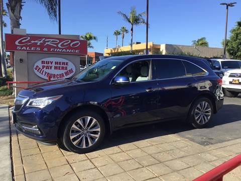 2014 Acura MDX w/Tech for sale at CARCO SALES & FINANCE #3 in Chula Vista CA