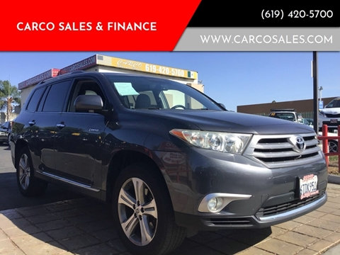 2011 Toyota Highlander Limited for sale at CARCO SALES & FINANCE #3 in Chula Vista CA