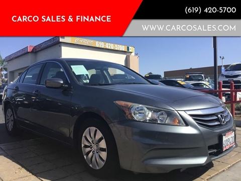 2012 Honda Accord LX for sale at CARCO SALES & FINANCE #3 in Chula Vista CA