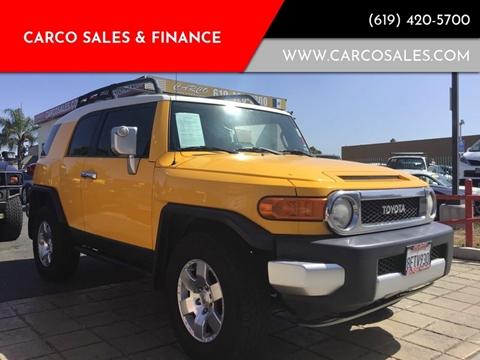 2007 Toyota FJ Cruiser for sale at CARCO SALES & FINANCE #3 in Chula Vista CA