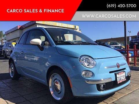2014 FIAT 500 for sale at CARCO SALES & FINANCE #3 in Chula Vista CA
