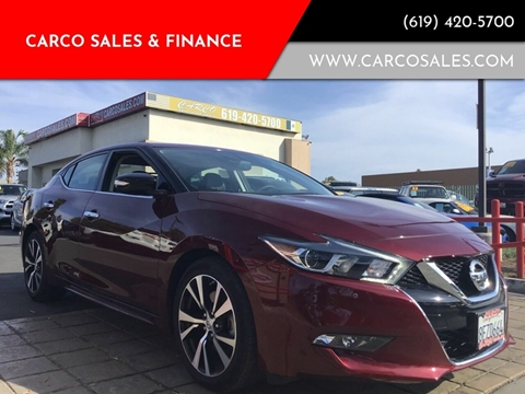 2018 Nissan Maxima for sale at CARCO SALES & FINANCE #3 in Chula Vista CA