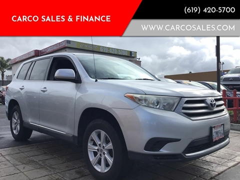 2012 Toyota Highlander for sale at CARCO SALES & FINANCE #2 in Chula Vista CA