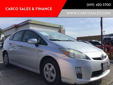 2010 Toyota Prius for sale at CARCO SALES & FINANCE #3 in Chula Vista CA