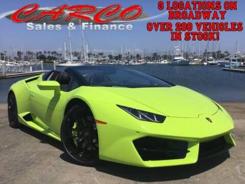 2019 Lamborghini Huracan for sale at CARCO SALES & FINANCE in Chula Vista CA