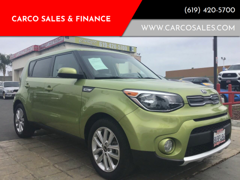 2018 Kia Soul for sale at CARCO SALES & FINANCE #3 in Chula Vista CA