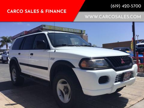 2000 Mitsubishi Montero Sport for sale at CARCO SALES & FINANCE #3 in Chula Vista CA