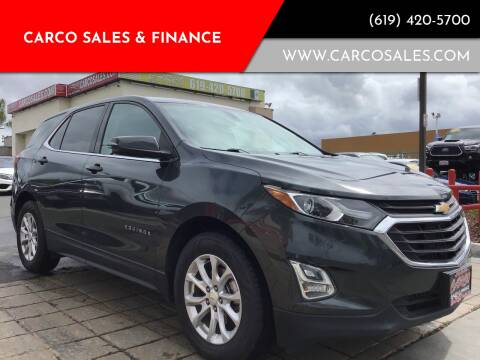2018 Chevrolet Equinox for sale at CARCO SALES & FINANCE #3 in Chula Vista CA