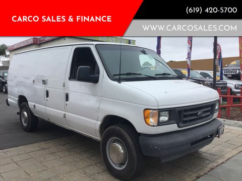 2003 Ford E-Series Cargo for sale at CARCO SALES & FINANCE #2 in Chula Vista CA