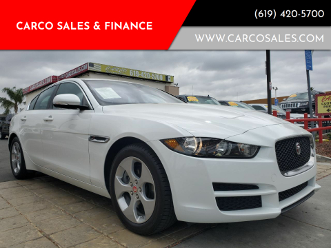 2017 Jaguar XE for sale at CARCO SALES & FINANCE #3 in Chula Vista CA