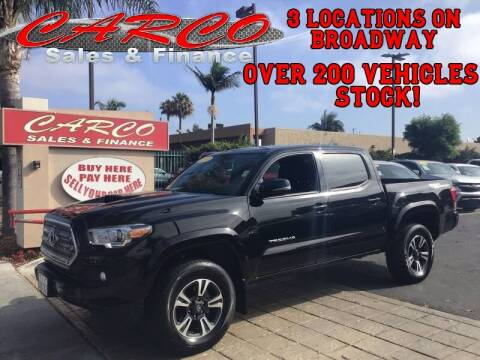 2017 Toyota Tacoma for sale at CARCO SALES & FINANCE in Chula Vista CA