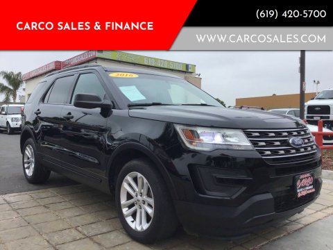 2016 Ford Explorer for sale at CARCO SALES & FINANCE #2 in Chula Vista CA