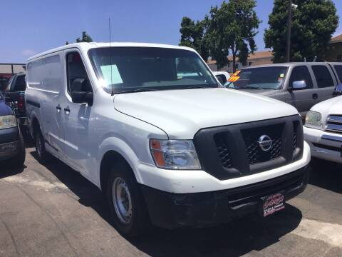 2015 Nissan NV Cargo for sale at CARCO SALES & FINANCE #3 in Chula Vista CA