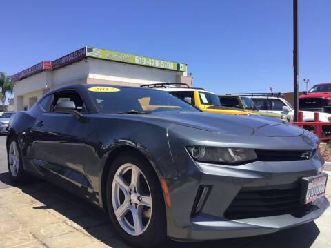 2017 Chevrolet Camaro for sale at CARCO SALES & FINANCE #3 in Chula Vista CA