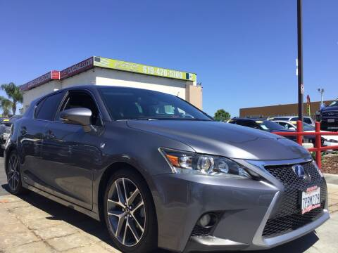 2015 Lexus CT 200h for sale at CARCO SALES & FINANCE in Chula Vista CA