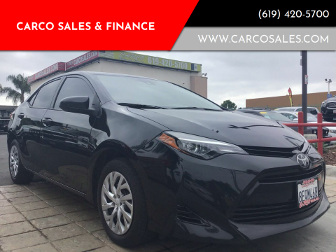 2018 Toyota Corolla for sale at CARCO SALES & FINANCE #3 in Chula Vista CA