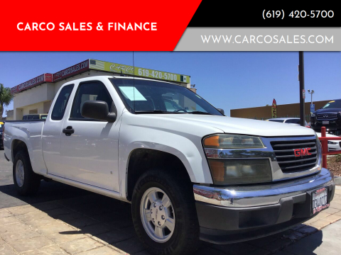 2007 GMC Canyon for sale at CARCO SALES & FINANCE #3 in Chula Vista CA