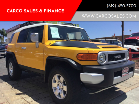 2008 Toyota FJ Cruiser for sale at CARCO SALES & FINANCE #3 in Chula Vista CA